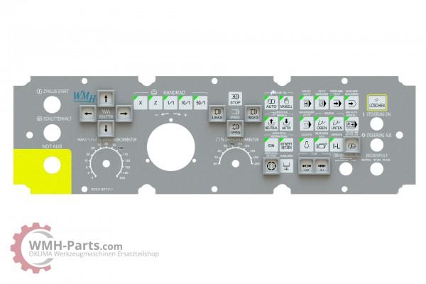 Tastaturfolie OKUMA OSP7000L und OSP U/E100L - inkl. Aufsteckrahmen