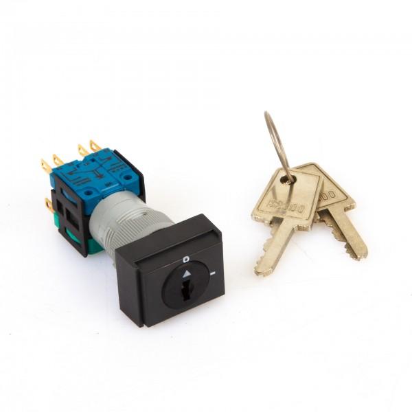 Schlüsselschalter / Wahlschalter mit 2 Stellungen inkl. Schlüssel für Okuma Werkzeugmaschinen